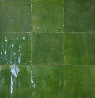 zellige z23 vert imperial cimenterie de la tour