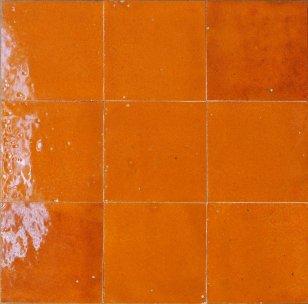 zellige z48 orange petillant cimenterie de la tour