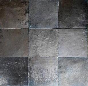 zellige z52 noir metal cimenterie de la tour