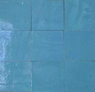 zellige z8 bleu turquoise cimenterie de la tour
