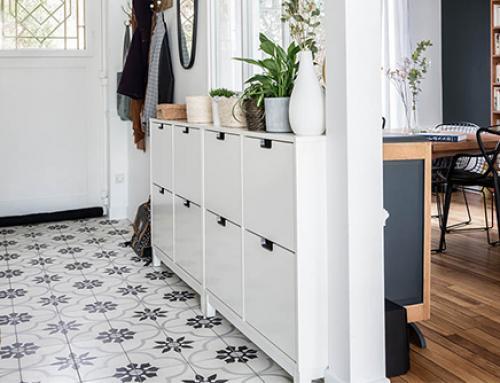 Les carreaux de ciment dans une cuisine