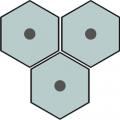 Carreau de ciment - Hexagone H10M012