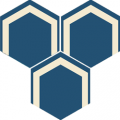 Carreau de ciment - Hexagone H10M021
