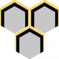 Carreau de ciment - Hexagone H10M022