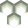 Carreau de ciment - Hexagone H20M0182