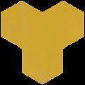 Carreau de ciment - Hexagone T10-4