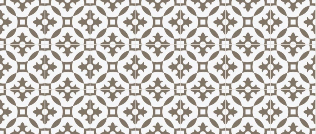 cimenterie de la tour carreau ciment motif traditionnel bicolore M1980