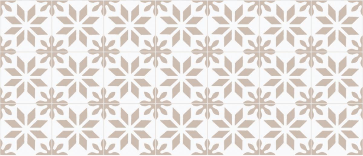 cimenterie de la tour carreau de ciment motif traditionnel bicolore M0172