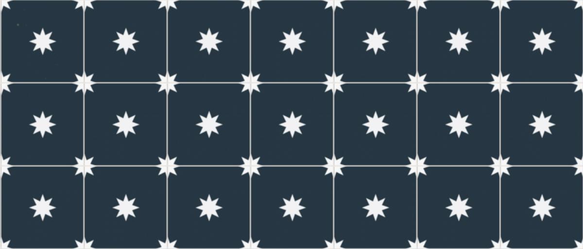 cimenterie de la tour carreau de ciment petit motif unique etoile M3081